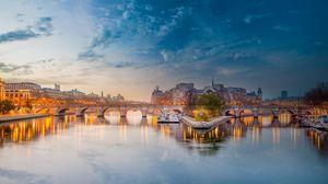 Preview wallpaper paris, france, seine river, bridge
