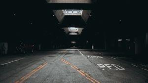 Preview wallpaper parking, asphalt, carport, construction, architecture, road marking