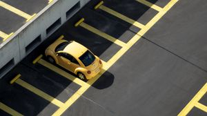 Preview wallpaper parking, auto, minimalism, yellow