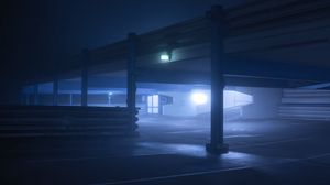 Preview wallpaper parking, night, lights, glow, shady