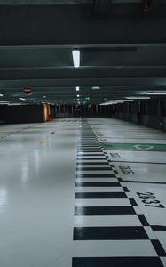 Preview wallpaper parking, premises, floor, marking