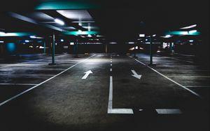 Preview wallpaper parking, underground, marking