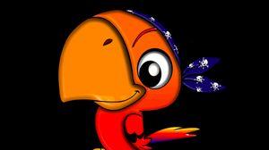 Preview wallpaper parrot, bird, funny, pirate, art