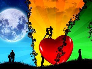 Preview wallpaper passion, peace, dance, heart, love