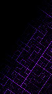 Preview wallpaper pattern, geometric, lines, purple, dark
