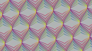 Preview wallpaper pattern, optical illusion, volume, colorful, texture