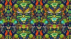 Preview wallpaper pattern, ornament, bright, tangled