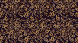 Preview wallpaper pattern, ornament, plants, brown