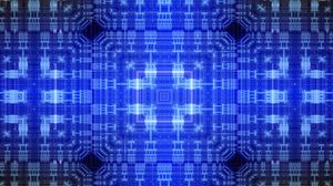 Preview wallpaper pattern, squares, lines, abstraction, blue
