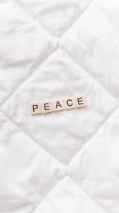 Preview wallpaper peace, word, inscription, cubes, cloth
