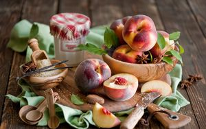 Preview wallpaper peaches, spices, seasonings