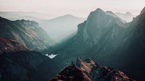 Preview wallpaper peaks, alone, loneliness, mountains, switzerland