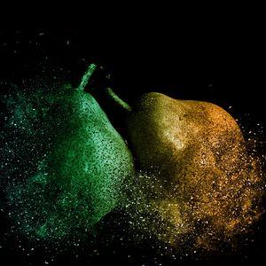 Preview wallpaper pears, photoshop, destruction