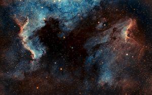 Preview wallpaper pelican nebula, nebula, glow, stars, space