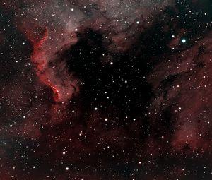 Preview wallpaper pelican nebula, nebula, stars, space, red