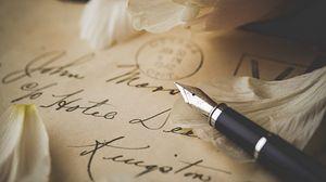 Preview wallpaper pen, letter, petals, envelope, vintage