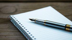 Preview wallpaper pen, notebook, spiral