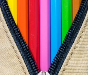 Preview wallpaper pencils, colorful, lightning, lock, creativity