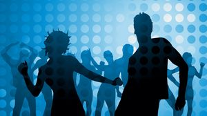 Preview wallpaper people, dancing, disco, circles