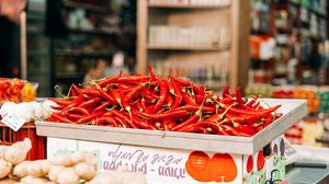 Preview wallpaper pepper, chilli, shop, market