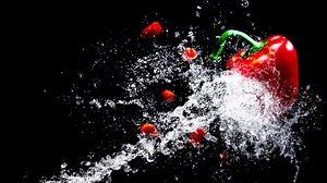 Preview wallpaper pepper, spray, drops