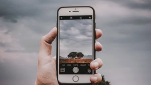 Preview wallpaper phone, smartphone, hand, photography, landscape