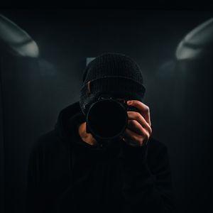 Preview wallpaper photographer, camera, dark, black