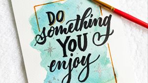 Preview wallpaper phrase, words, lettering, watercolor