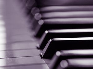 Preview wallpaper piano, keys, black and white, music