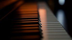 Preview wallpaper piano, keys, macro, musical instrument