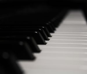 Preview wallpaper piano, keys, music, black and white