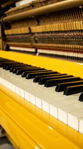 Preview wallpaper piano, keys, music, yellow