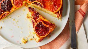 Preview wallpaper pie, pastries, dessert, oranges, slices