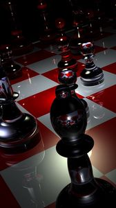 Preview wallpaper pieces, chess, boards, glass