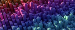 Preview wallpaper pillars, squares, shapes, volume, colorful, 3d