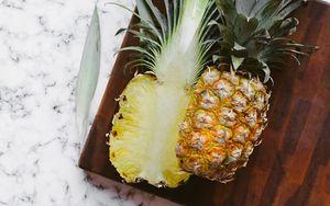 Preview wallpaper pineapple, fruit, cut, vegetable