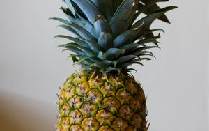 Preview wallpaper pineapple, fruit, leaves, ripe