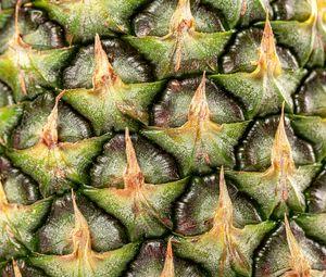 Preview wallpaper pineapple, fruit, macro, surface