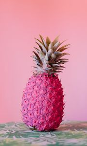 Preview wallpaper pineapple, fruit, pink, paint, tropical