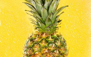 Preview wallpaper pineapple, fruit, ripe, yellow