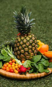 Preview wallpaper pineapple, fruits, vegetables, fresh