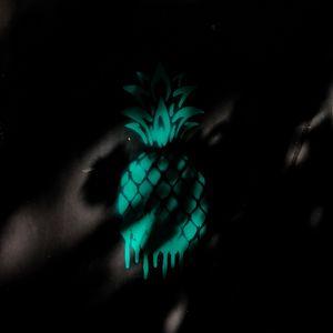 Preview wallpaper pineapple, graffiti, shadow, dark, wall