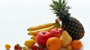 Preview wallpaper pineapple, orange, banana