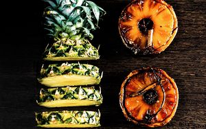 Preview wallpaper pineapple, slices, fruit