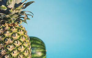 Preview wallpaper pineapple, watermelon, fruit