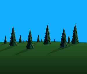 Preview wallpaper pines, trees, vector, art