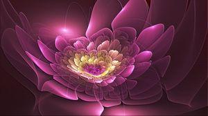 Preview wallpaper pink, flower, form, fractal