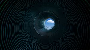 Preview wallpaper pipe, cloud, ribbed, surface