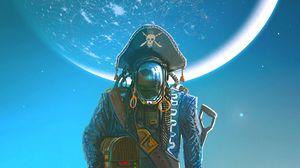 Preview wallpaper pirate, cyborg, treasures, art