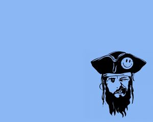 Preview wallpaper pirate, wink, emotions